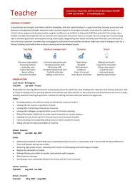 How To Write A Teacher Resume  first year teacher resume template     Teachers Resume Templates Samples   resume examples for teachers