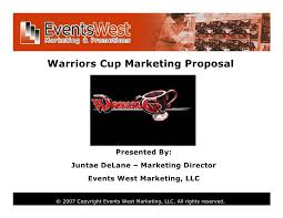 Sample Marketing Presentation Plan