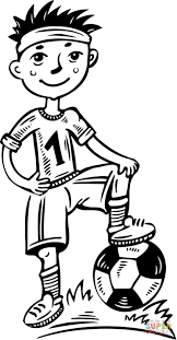 Small Picture Young Boy Soccer Player coloring page Free Printable Coloring Pages