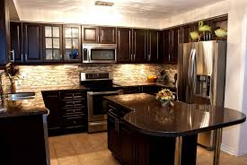 Modern Black Kitchen Cabinets Dark Kitchen Cabinets Light Granite Quicuacom