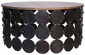 new round black wood coffee table design round wood coffee table