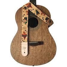Details About Sherrins Threads Hawaiian Conversational Guitar Straps 2 In Tattoo Art New