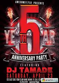 Anniversary Flyer V10 Template Free Download Vector Stock