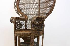 iconic peacock chair original handmade1970s rattan cane mid century modern caned armchair with