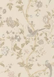laura ashley summer palace taupe ivory wallpaper main image