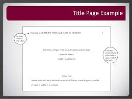 How To Create An Apa Title Page Roseman University Library Apa Citation Title Page