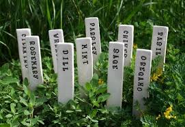 garden labels. Special Order Reserved For Carville - 11 Herb Or Vegetable Garden Markers Pottery Plant Stakes Custom Labels E