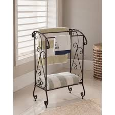 towel rack stand.  Stand Kings Brand Coffee Brown Metal Free Standing Towel Rack Stand With Shelf  New And E