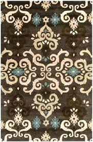 blue brown cream area rug amazing best rugs images on and inside teal incredible pertaining to
