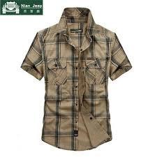 Brand Army Military <b>Style</b> Shirt Men <b>2018</b> Summer <b>100</b>% <b>Cotton</b> ...