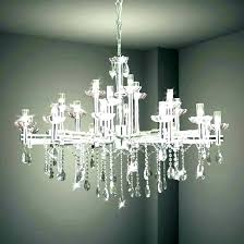 with black shade and crystal drops chandelier for