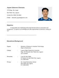 Filipino Student Resumes Ojt Gentileforda Com