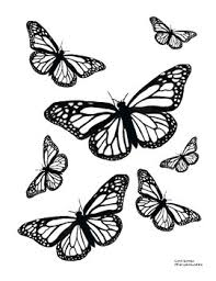 Alphabet letters, animals, shapes, fruits, vegetables. Cute Printable Springtime Butterfly Coloring Pages For May Set Of 3