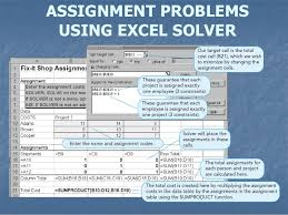 assignment problems  9