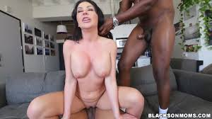 Big ass brunette pornstar Sasha Sean has interracial MMF threesome.