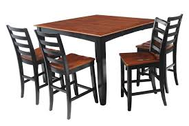 5 Piece Solid Wood Counter Height Dining Set Ryley Modern Kitchen