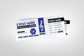 Ticket Design Music Party Event Ticket Design Template Graphic Templates