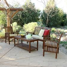 4 piece acacia patio conversation set w