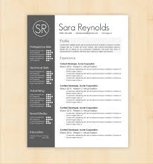 Interesting Resume Template Design Resume Template Resume Template Sara Reynolds Writing Awesome 13