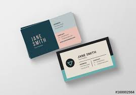 Buiness Card Two Minimalist Business Card Layouts Buy This Stock Template And
