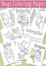 Little Bugs Coloring Pages For Kids Printables And Color Pages