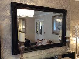 large black wall mirror