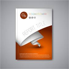 cover page designs for reports cover page design template free vector