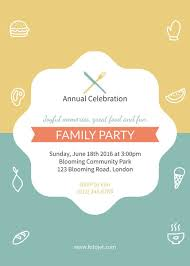 invitation party templates family reunion party invitation template template fotojet