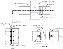 Connection Details For Beam To Column Joint Tests With