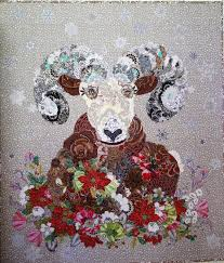 MarveLes PAPER PATTERN Quilted COLLAGE Christmas Style Wall quilt ... & MarveLes PAPER PATTERN Quilted COLLAGE Christmas Style Wall quilt Floral  Quilt Rocky Mountain Blooming Bighorn Sheep Montana Glacier Park from ... Adamdwight.com