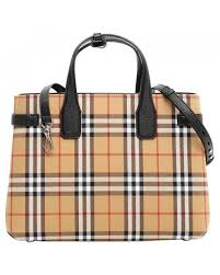 burberry multicolor the banner camel leather handbag lyst