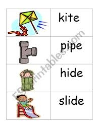 These worksheets aim to build a child's knowledge of consonants, vowels and their corresponding sounds. Word Picture Cards Containing I E Phonics Esl Worksheet By Jenniferoz69
