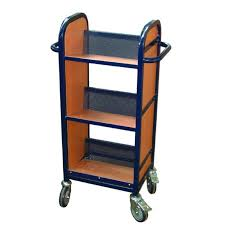 Library Book Display Stands Compact Single Sided Mobile Library Book Storage Trolley Sports 80
