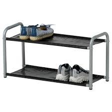 adorning alumunium shoe rack stand ikea with double shelves