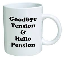 retirement coffee mug good bye tension and o pension goodbye retired and funny
