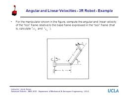 angular and linear velocities 3r robot example for the manipulator shown in the figure