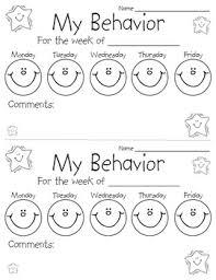 Daily Behavior Chart Template For Kindergarten Behavior Chart Sheet Preschool Behavior Classroom