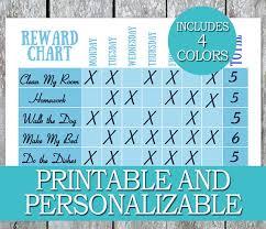 weekly reward chart printable printable chore chart kids weekly reward chart diy routine