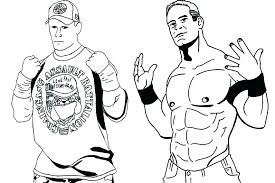 Coloring Pages Wwe John Coloring Pages To Pictures Colour For Adults