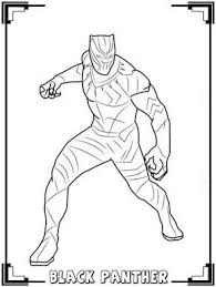 Black Panther Coloring Pages Kids In 2019 Avengers Coloring