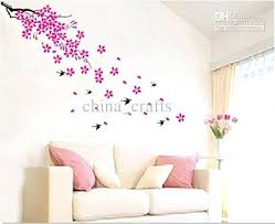 wall decor stickers whole removable swallow and flowers wall stickers living room wall decor stickers self
