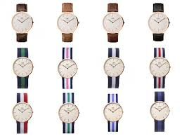 daniel wellington watch and assorted leather and nato straps daniel wellington watch and assorted leather and nato straps