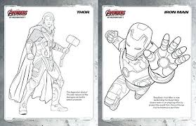 The Avengers Coloring Pages Free Kids Marvels The Avengers Age Of