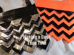 layers duct tape triangle purse   Never Enough Duct Tape .