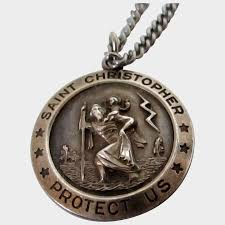 theda sterling silver st christopher