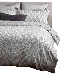ferns graphite gray bedding set single tropical duvet covers and duvet