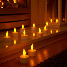 Lighting Candles Auraglow Set Of 12 Rechargeable Led Tea Light Candles