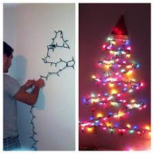 Christmas Tree Design On Wall With Lights Lights Only Wall Tree Project First Christmas Tree Using