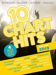 10 Chart Hits Apr Jun 2019 Keyboard Klavier Gitarre Ukulele Noten