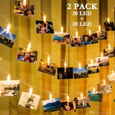 string lighting indoor. 2018 2 Pack Photo Clips String Lights 20 Led Indoor Fairy For Hanging Photos Pictures Cards,Memos,Cards And Artwork From Sunshine5566, Lighting